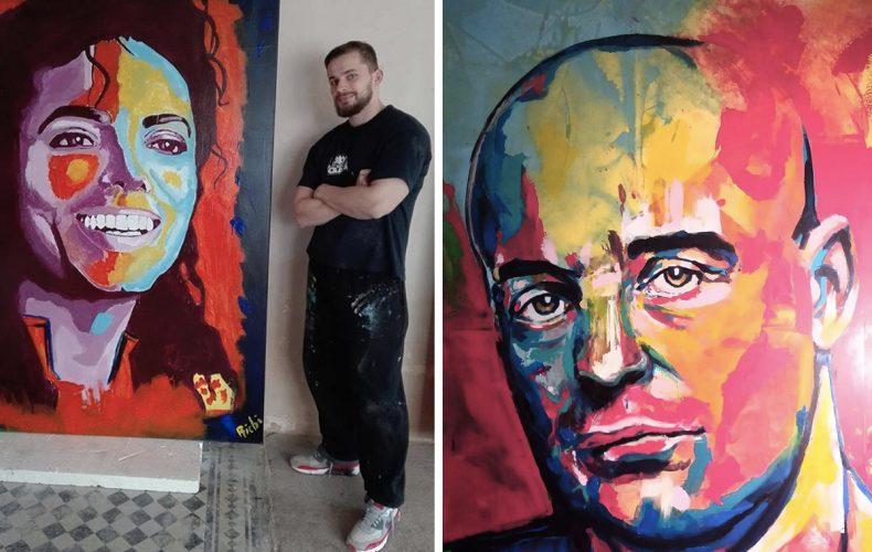 Maliar Richi umenie nikdy neštudoval, no jeho obrazy vás dostanú (Rozhovor)