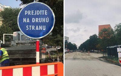 Únik plynu na rušnej ulici a zmena dátumu asfaltovania na Novomestskej ulici