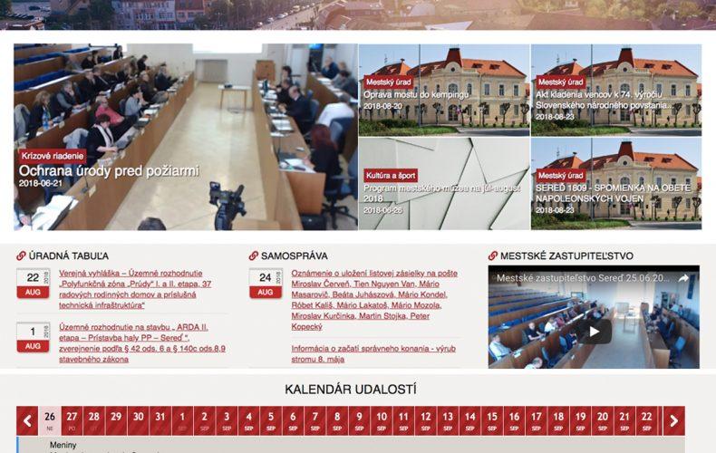 Sered.sk od dnes s novým dizajnom. Má naše mesto konečne moderný web?