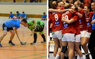 Seredské hádzanárky a florbalisti získali v lige svoje prvé body
