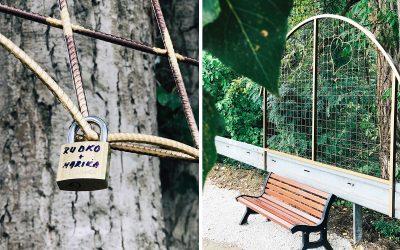 Lavička lásky v Seredi je miestom pre všetky zaľúbené páry