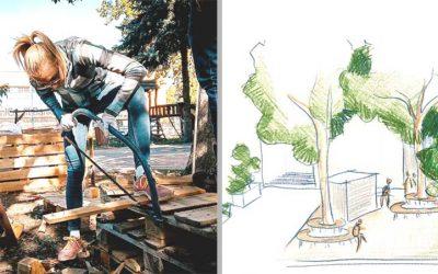 Dobrovoľníci odštartovali práce na verejnej záhradke, ktorá bude slúžiť obyvateľom. Volá sa Zelený PRIESTOR