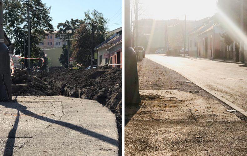 Pekárska ulica je kompletne dokončená. Ako to vyzeralo pred a po rekoštrukcii ulice?