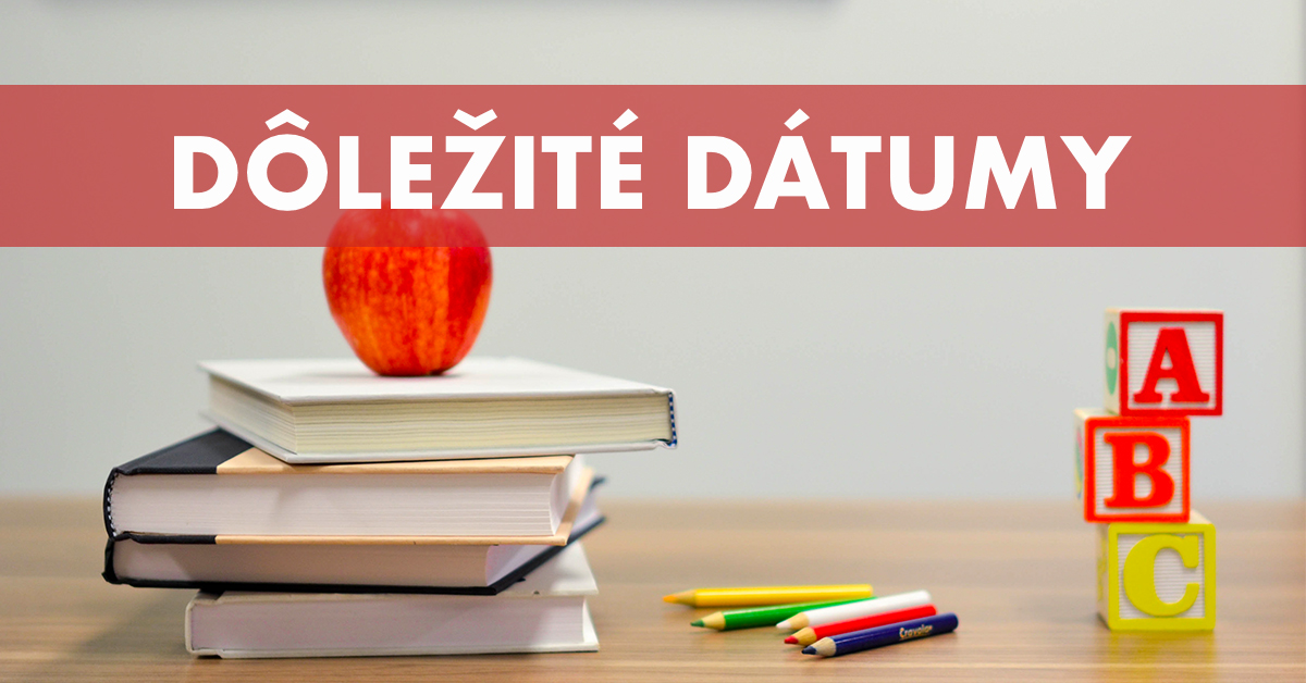 Rodičia, zaujíma vás rozpis prázdnin či najdôležitejšie termíny ohľadom  zápisov do škôl? - Seredsity.sk