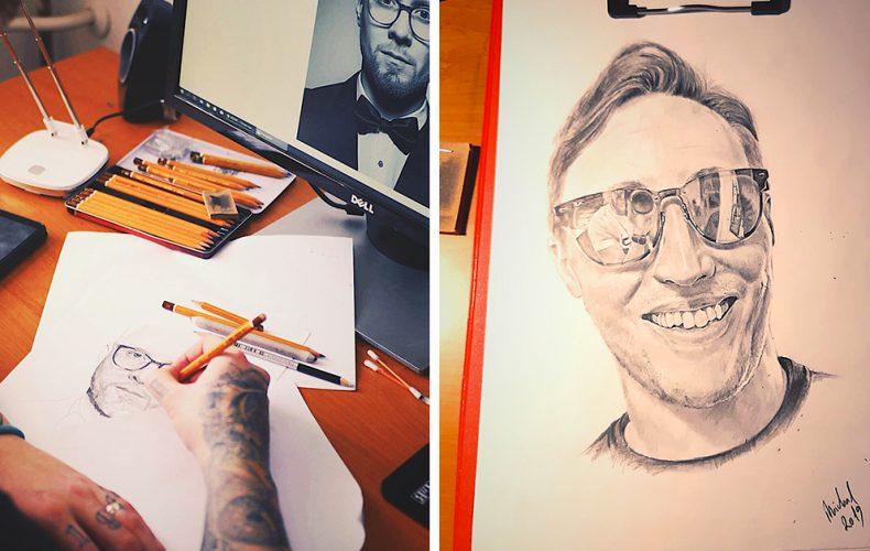 Talentovaný Seredčan Michal vytvára nádherné portréty. Pozrite sa, ako takýto obraz vzniká