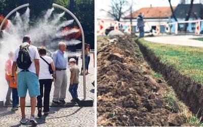 Na Námestí slobody pribudne rozprašovač vodnej hmly, ktorý zaručí osvieženie počas letných horúčav