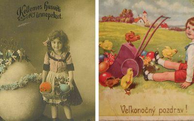 Pozrite si unikátne veľkonočné pohľadnice, ktoré pred 100 rokmi prešli našou poštou. Ako vtedy vyzeral seredský obed?