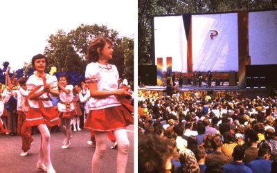 Výnimočné dobové fotografie a podnikové odznaky dokazujú, že prvomájové oslavy boli v Seredi skutočne veľkolepé