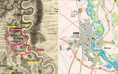 Takto vyzeralo mesto Sereď na unikátnych historických mapách z obdobia Uhorska, ktoré sú staré stovky rokov