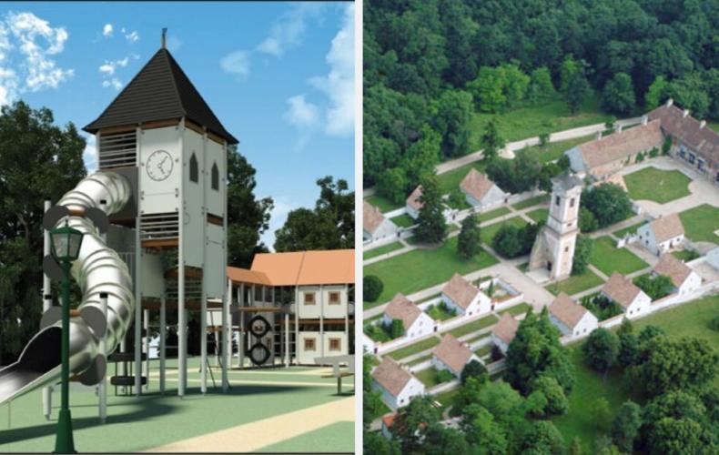 V Šali vzniklo unikátne detské ihrisko, ktoré vyzerá ako kláštorný komplex. Prijali by ste také aj v Seredi?