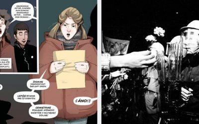 Vedia vaše deti, o čom bola Nežná revolúcia? Môžu si o nej prečítať komiks či zahrať počítačovú hru