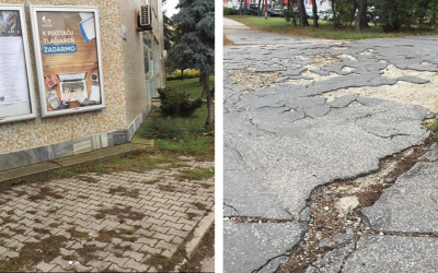 Na zlé stavy chodníkov v Seredi začal upozorňovať aj profil na Instagrame