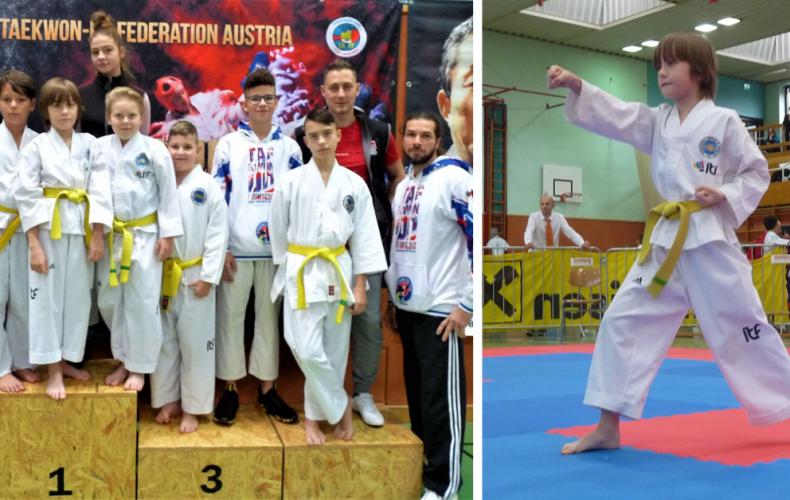 Seredskí taekwondisti bodovali na súťaži Blackbelt Cup v Rakúsku a domov si priviezli 12 medailí