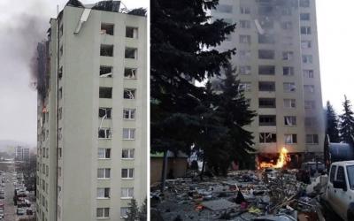 Katastrofický výbuch plynu otriasol celým Prešovom. Hrozí pád 12-poschodového paneláku. Na mieste zasahujú desiatky záchranárov