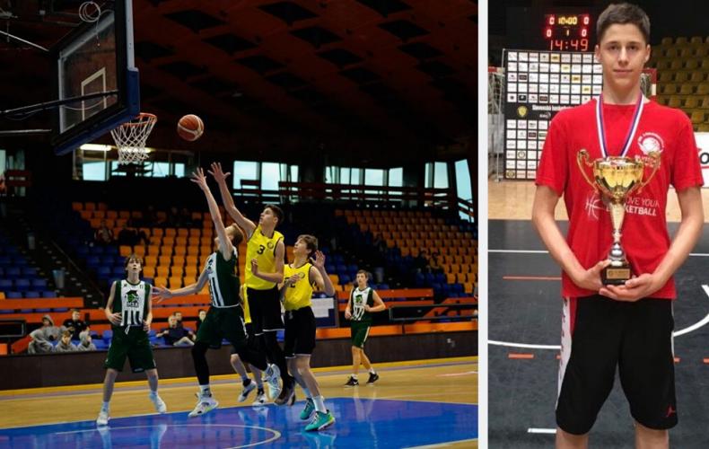Mladý seredský basketbalista Maroš Šimko si z medzinárodného turnaja EYBL v Prahe odniesol ocenenie najužitočnejší hráč