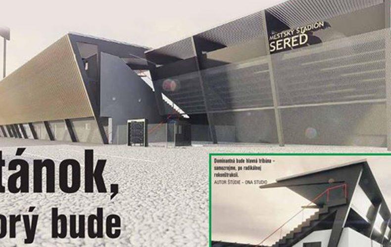 Takto bude vyzerať štadión ŠKF Sereď po rekonštrukcii. Páči sa vám tento moderný dizajn?