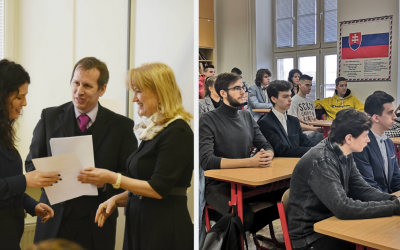 Polročné vysvedčenie priamo z rúk štátnej tajomníčky Ministerstva školstva, vedy, výskumu a športu SR. Ako sa vyjadrila o seredskom gymnáziu?