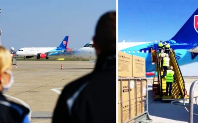 Milión rúšok a stotisíc testov na koronavírus. Dnes pristálo v Bratislave lietadlo z Číny so zdravotníckym materiálom