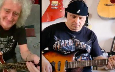 Seredčan Rado Palkovič si zahral s legendárnym gitaristom skupiny Queen ich najznámejšiu pieseň We are the champions