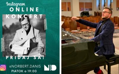 Klavírny virtuóz Norbert Daniš odohrá koncert naživo na Instagrame. Už zajtra sa môžete tešiť na tento hudobný zážitok