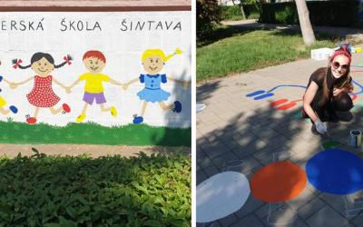 Materská škôlka pri ZŠ kráľa Svätopluka v Šintave prešla nádhernou zmenou. Deti sa môžu tešiť napríklad aj na pocitový chodník