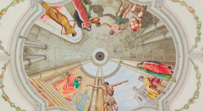 Konečne poznáme skryté významy klenbových malieb v seredskom kostole. Toto sú ich jedinečné príbehy