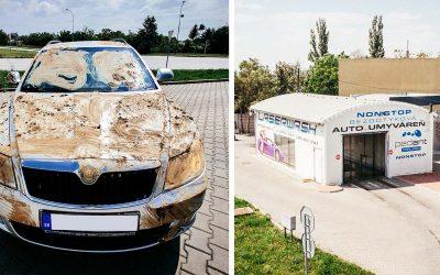 V autoumyvárni Pedant v Seredi sme za pár eur dokázali umyť takto špinavé autá. Výsledok je perfektný a trvalo to iba niekoľko minút