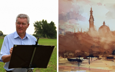 Maliar László Pomothy z Galanty je svojimi akvarelovými maľbami známy aj v zahraničí. Pozrite si jeho unikátne obrazy