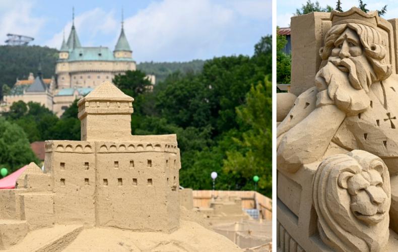 Slovenské hrady a zámky z piesku sú skvelým tipom na výlet aj pre Seredčanov