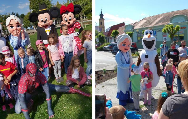 Sereď na Deň detí ožila maskotmi rozprávkových postavičiek. Sprievod s maskotmi bol pre deti nezabudnuteľný