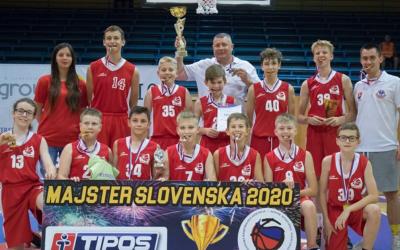 Mladí basketbalisti zo Serede sa stali majstrami Slovenska 2020 v kategórii mladší žiaci U13