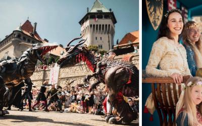 Neďaleký Smolenický zámok organizuje aj toto leto Dračie dni na zámku. Nenechajte si ujsť stredovekú atmosféru a program pre deti každého veku