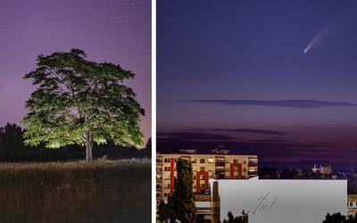 Seredčan Michal Dinga nafotil kométu Neowise nad naším mestom. Pozrite si tieto nádherné zábery