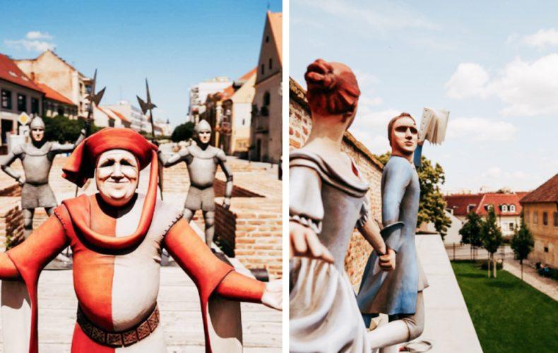 """Po celej Trnave môžete vidieť sochy v životnej veľkosti. Príďte si zahrať unikátnu GPS hru """"Mocný opasok"""""""
