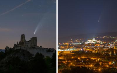 Kométa Neowise bola jednoznačne astronomickou udalosťou leta. Pozrite si krásne zábery a video od Maja Chudého