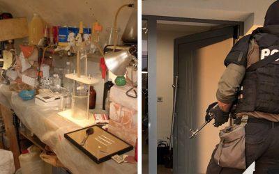 Veľká protidrogová akcia v Seredi: 14 obvinených, zaistené laboratórium a desaťtisíce eur