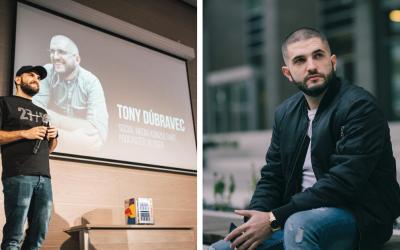 Seredčan Tony Dúbravec patrí medzi najlepších marketérov Slovenska. V súčasnosti je jedným z lektorov Creative Academy