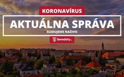 V Seredi bolo za posledný týždeň 10 osôb nakazených koronavírusom. Toto sú nové nariadenia krízového štábu mesta Sereď