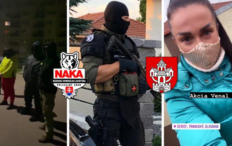 Protidrogové akcie NAKA v Seredi pokračujú. Dnes skoro ráno zadržali 9 osôb, ktoré mali byť súčasťou zločineckej skupiny