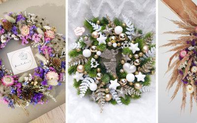 Hľadáte inšpiráciu na jesennú výzdobu? Bielokvet a Katkine tvorenie zo Serede vyrábajú krásne dekoračné vence
