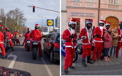 Aj Sereďou sa včera prehnala partia záhadných Mikulášov na motorkách