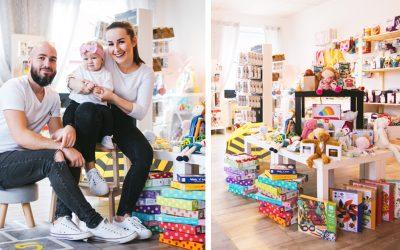 Seredčania Lucia a Marek otvorili v našom meste krásny obchod Honeyland. Ich ponuka je plná skvelých detských produktov