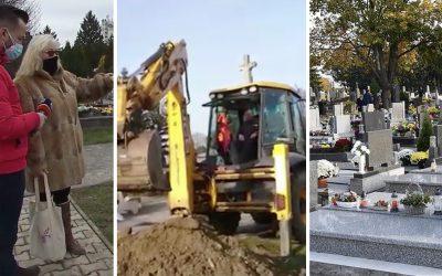 Slovensko rieši nedôstojné pochovávanie na seredskom cintoríne. Hrob mali zakopať bagrom