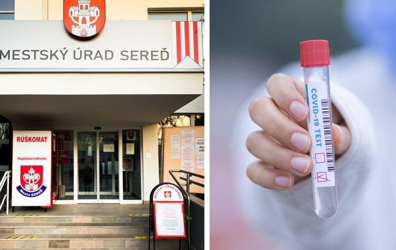 Zamestnanci mestského úradu a školských zariadení v Seredi prešli antigénovým testovaním. Vyskytol sa jeden pozitívny prípad