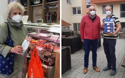 Mäsovýroba Gašparík myslí na tých najzraniteľnejších a rozdáva dôchodcom respirátory
