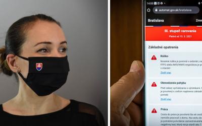 Slovensko má nový prehľadný Covid automat. Stačí vybrať okres a dozviete sa, čo všetko v ňom platí