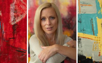 Abstraktné obrazy Zuzany Schmidt zo Šintavy budú vystavené v jednej z bratislavských galérií