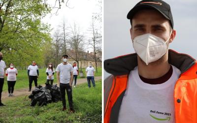 Zamestnanci logistického centra Amazon vypomáhali pri seredskom Smeťobraní. Vyzbierali 130 vriec odpadu