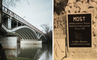 Šintavský most v Seredi patril k posledným dielam architekta Emila Belluša. Viete o tom, že sa pri ňom nachádzal aj pamätník?