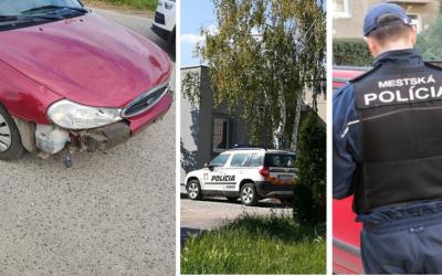 Iba 23-ročný Ukrajinec na parkovisku pred Kauflandom robil šmyky pomedzi ľudí. Spôsobil aj nehodu